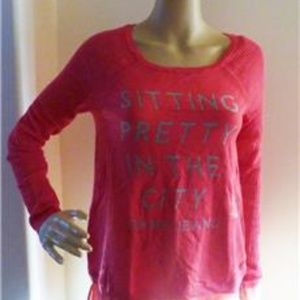 """DKNY Jeans """"Sitting Pretty in the City"""" Sweter M"""